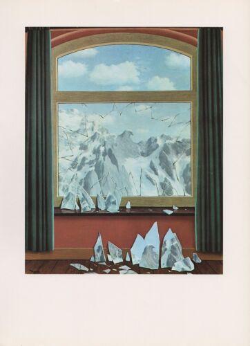 """LE DOMAINE/"""" COLOR Art Lithograph 1972 Vintage MAGRITTE /""""DOMAIN OF ARNHEIM #2"""