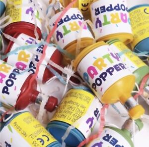 100x-CONFETTI-PARTY-POPPERS-Multi-Coloured-Table-Decoration-Birthday-Wedding-Set