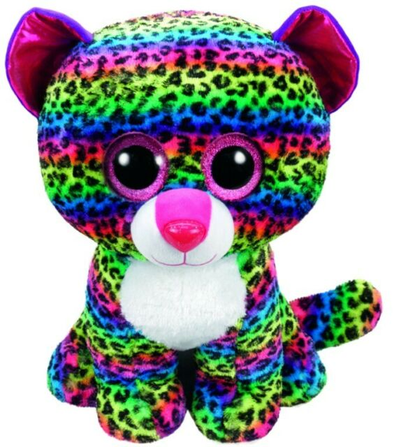 NEW TY Beanie Boo - Dotty The Leopard Large from Mr Toys