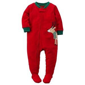 d1f8f2f20 Carter s NWT 2T Toddler Boy Fleece Reindeer Footed Pajama Blanket ...