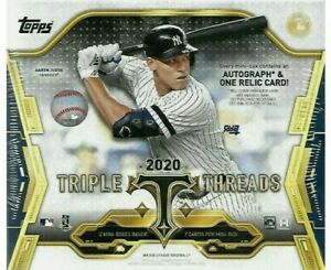 2020-Topps-Triple-Threads-Baseball-Box-Break-1-Random-Team-Free-Shipping
