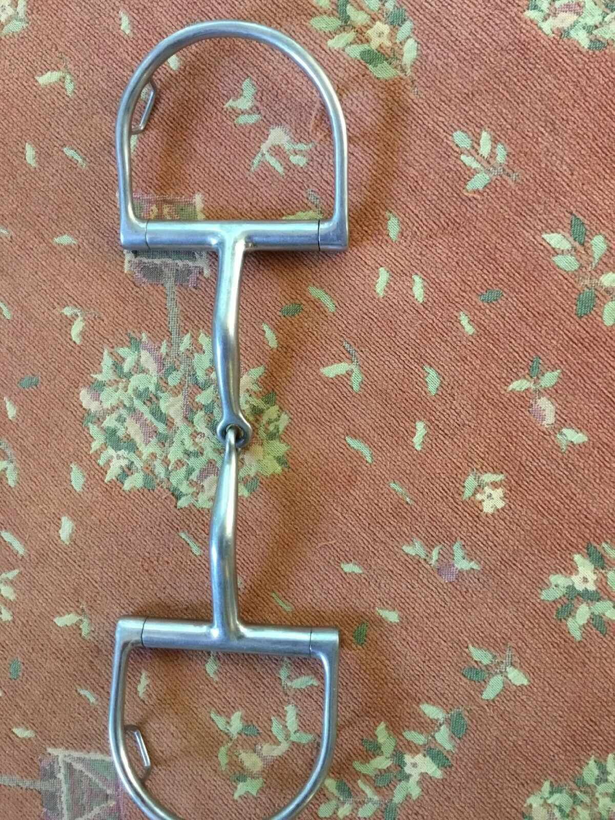 "Myler Dee Ring Bit with Hooks  Stainless Steel Snaffle Bit   Model MB09. 6"""
