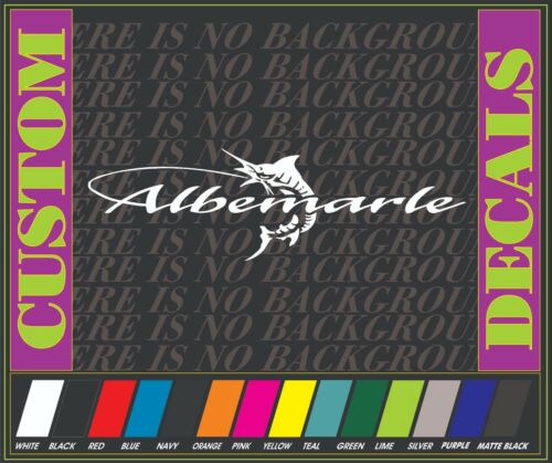 "Albemarle 9/"" BOAT TRUCK DECAL Marine Vinyl sticker"