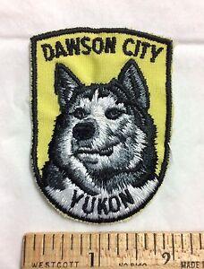 Dawson City YUKON Territory Canada Sled Dog Husky Canadian Souvenir Patch