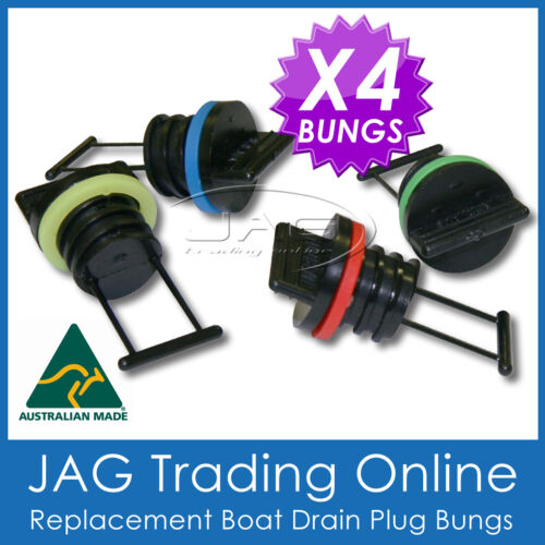 4 x REPLACEMENT BUNGS ONLY BOAT//MARINE DRAIN BUNG PLUGS STANDARD COARSE THREAD