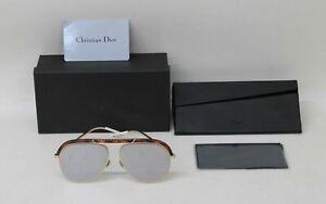 CHRISTIAN-DIOR-Ladies-Tortoiseshell-Brown-amp-Gold-Toned-Sunglasses-58-14-145