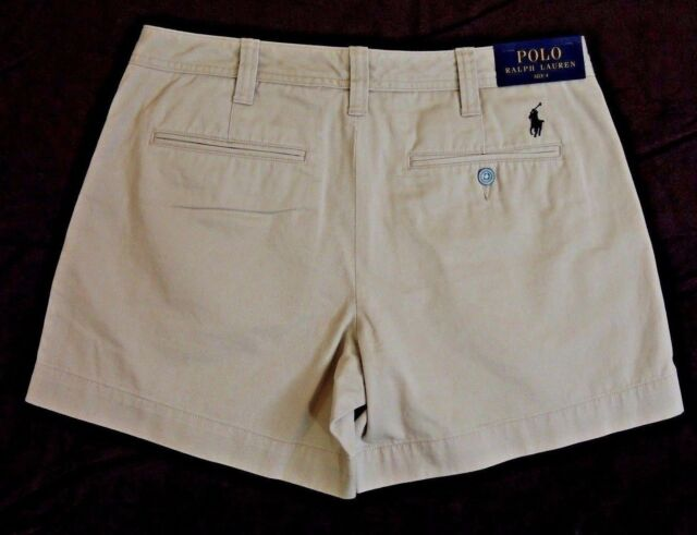 Buy Polo Ralph Lauren Women Pony Logo Chino Beach Golf Shorts Beige
