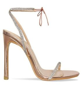 in stock classic style on sale Simmi Korra Rose Gold Diamond Embellished Crystal Ankle Tie Wrap ...