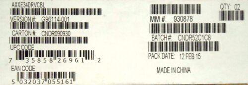 Kit Of Two Intel AXXE34DRVCBL SAS//SATA 4 Drive cable New Bulk Packaging