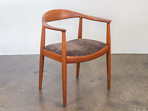 Image Is Loading Hans J Wegner Round Chair For Johannes Hansen