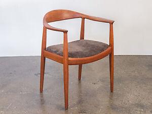 Image Is Loading Hans J Wegner Round Chair For Johannes Hansen