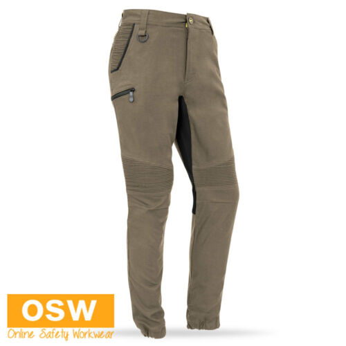 MENS STREET STYLE MODERN TRADIES STOVE COTTON STRETCH COMFY KHAKI WORK PANTS