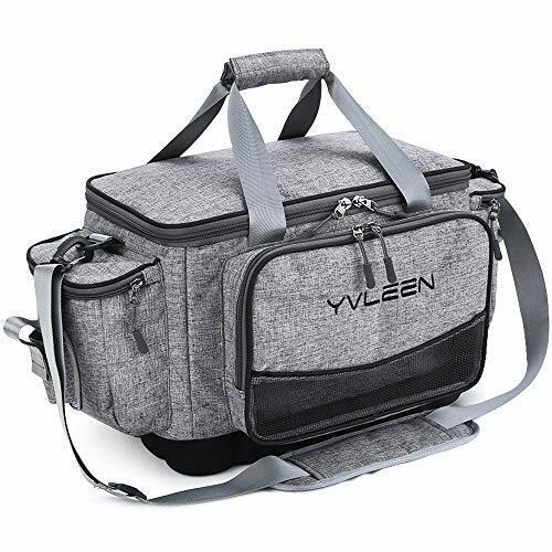 YVLEEN Fishing Tackle Box Bag 10... Outdoor Large Fishing Tackle Storage Bag