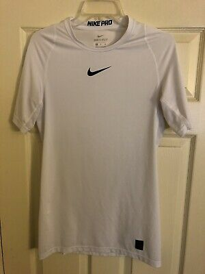 Nike Men's Pro Compression Short Sleeve Training Top Xl 838091-100 White Activewear
