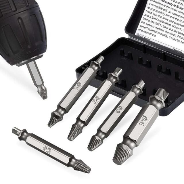 6 tlg 5 tlg Reparaturset Schraubenausdreher für beschädigte Schrauben