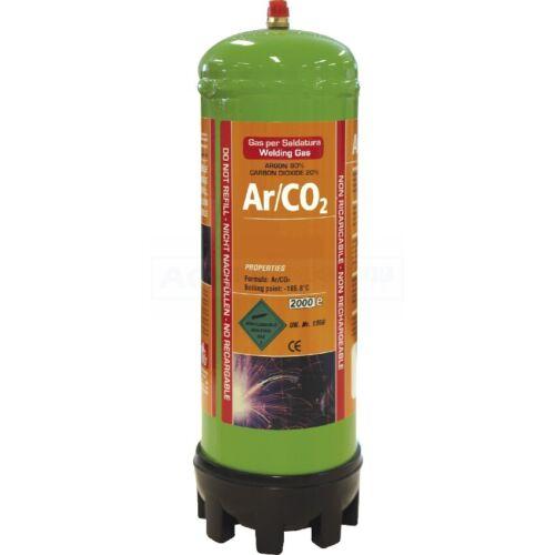 043664 GYS Einweggasflasche Argon//C02-1,8 L
