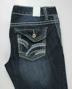 Maurices-Capri-Straight-Stretch-Thick-Stitch-Womens-Jeans-Sz-5-6-Reg