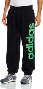 New-adidas-Ess-Linear-Cotton-Sweat-Pants-Sz-Small-Black-joggers-bottoms