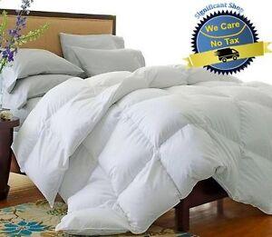 new california king goose down comforter white size blanket luxury 1500 thread 606955777396 ebay. Black Bedroom Furniture Sets. Home Design Ideas