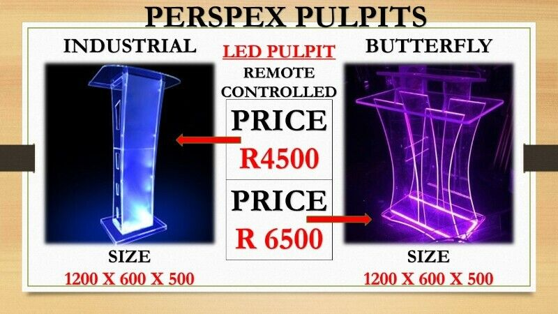 Industrial And Butterfly LED Pulpits