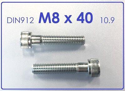 Innensechskant 5 Stück Zylinderschraube M8x60 10.9 verzinkt