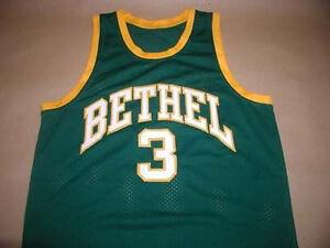 7a5e00c59343 CUSTOM NAME   BETHEL HIGH SCHOOL JERSEY ALLEN IVERSON SEWN NEW SEWN ...