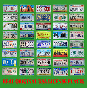 40 USA LICENSE PLATES SET UNITED STATES NUMBER TAG LOT REAL BEST QUALITY US MIX