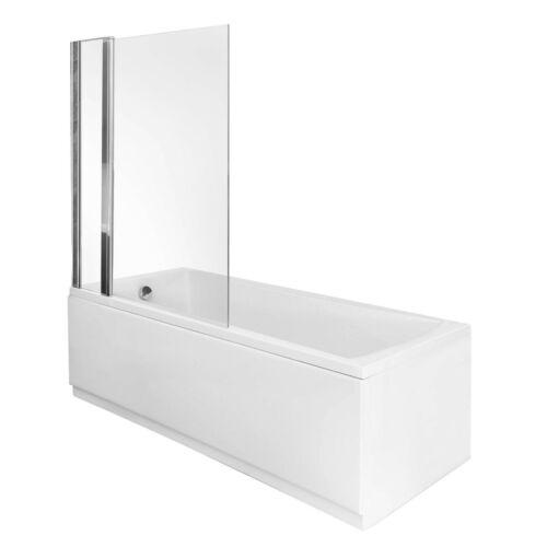 Multiple Sizes Straight Bath /& Curved Straight Black Shower Screen Bathroom