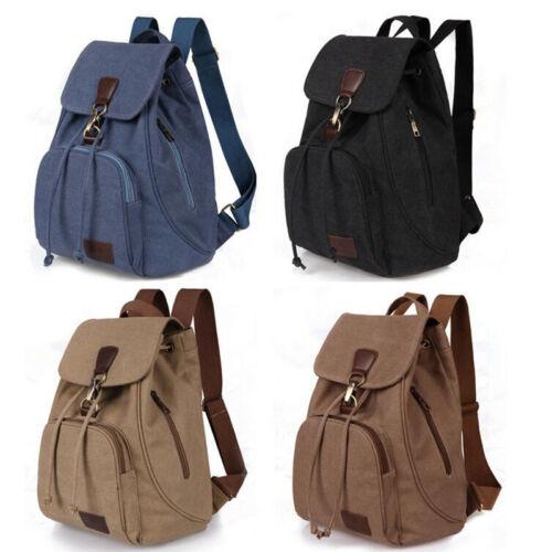 Fashion Men/'s Women Canvas Backpack School Rucksack Travel Satchel Shoulder Bag