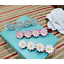 UK Seller NEW Beautiful Gold Tone Enamelled Daisies Hair Clip 2 Colours
