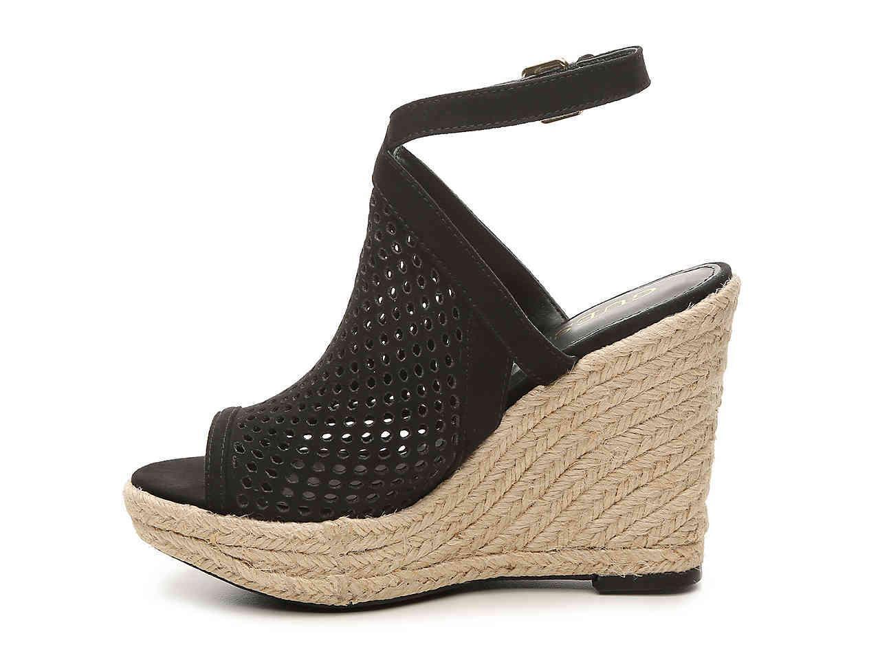 Guess nero Helida Helida Helida Wedge Platform Sandals donna Dimensione 7 M 73f111