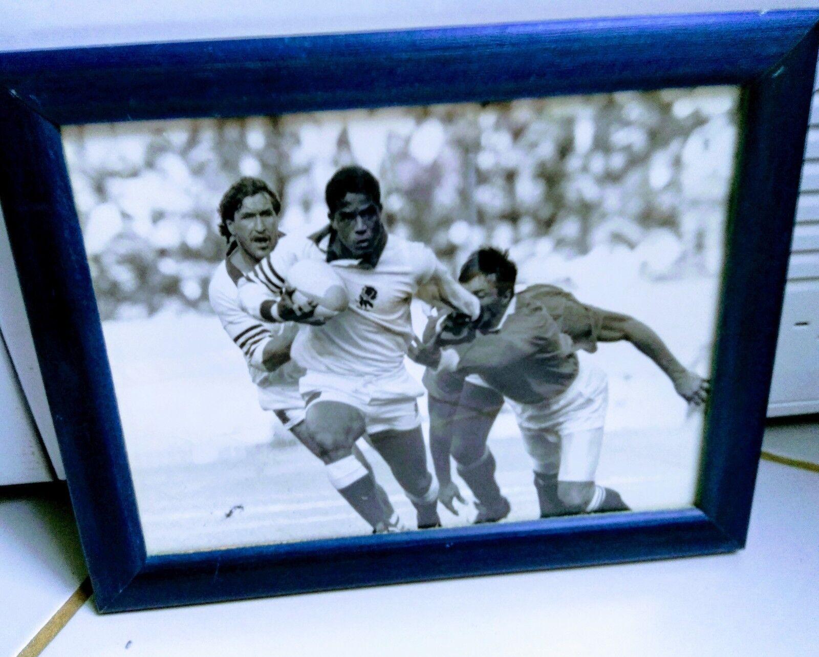 PHOTO PRESSE Rugby noir et blanc Jérémy Jérémy Jérémy Guscott 1er essai avec les anglais 1991 3b0482