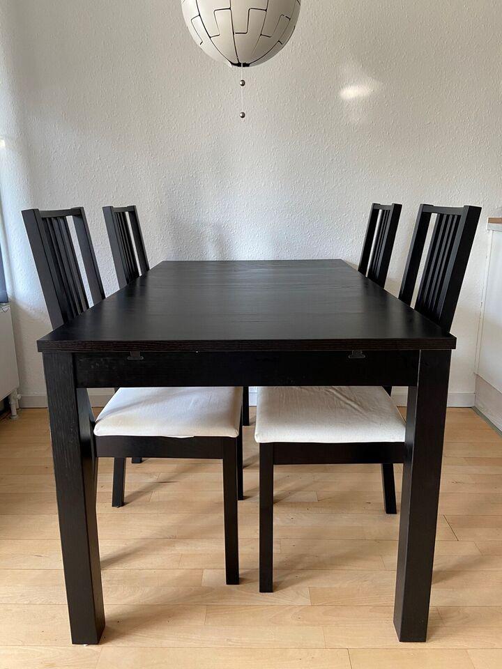 Spisebord m/stole, Træ, Ikea