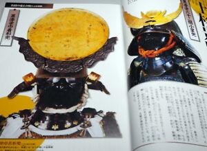 Japanese-SAMURAI-old-unusual-armor-KABUTO-helmet-Complete-Works-book-0929