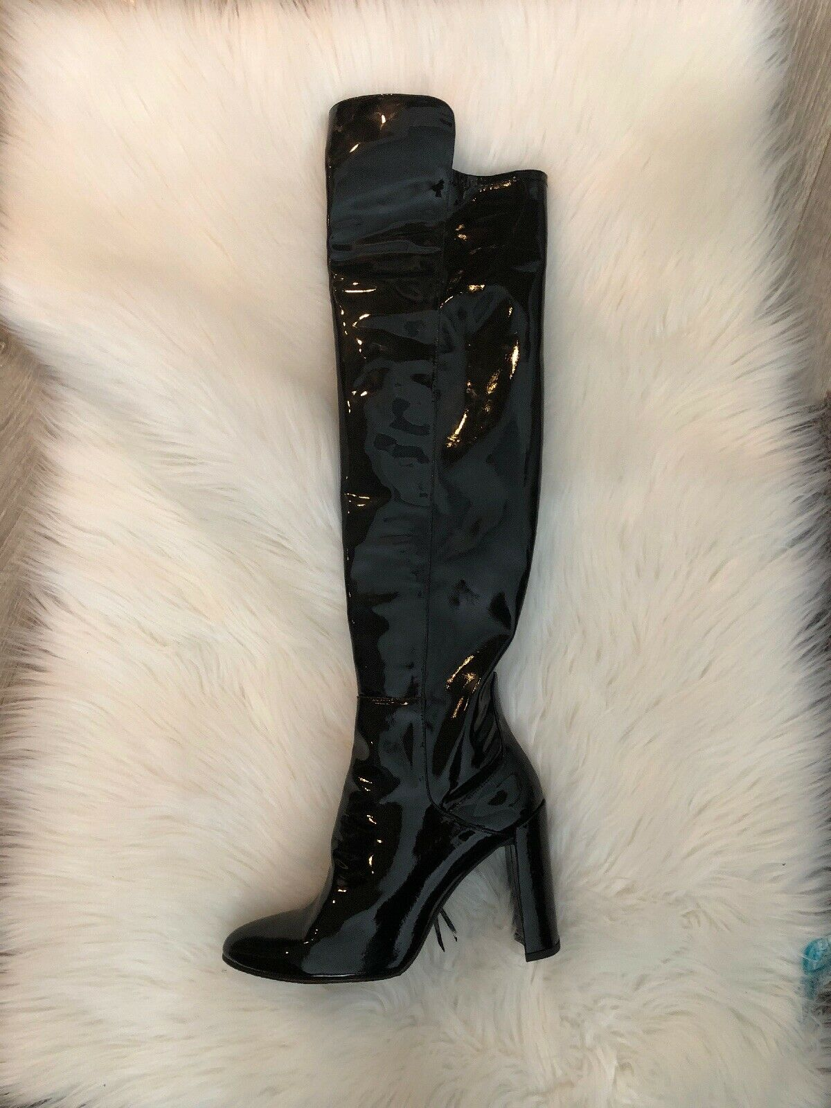 Stuart Weitzman Patent Patent Patent -leather Over Knee boots size8.5 Store display a6de7b