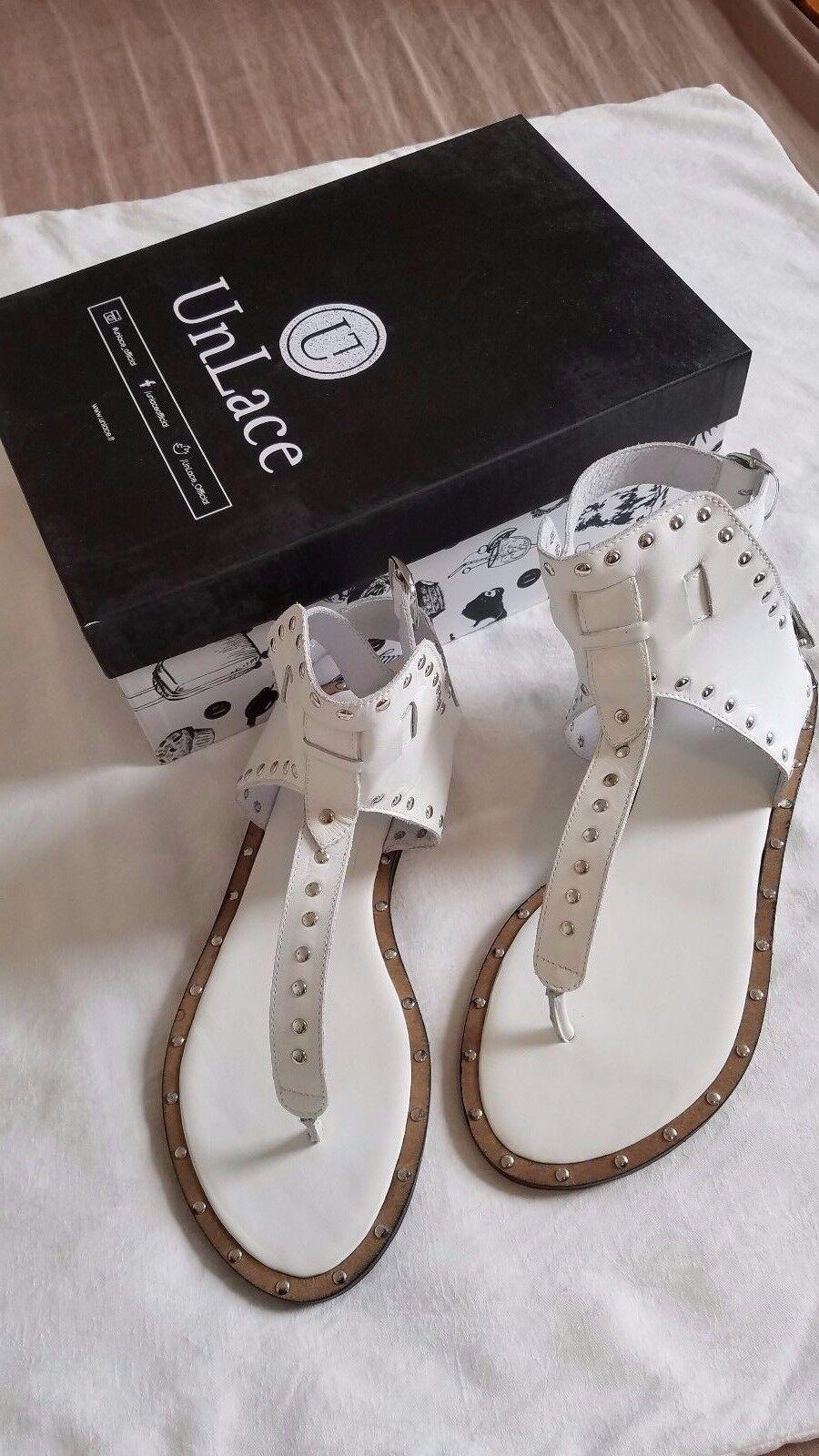 Damenschuhe Fashion Schuhes UnLace Federica SS16 WEISS Größe 8.5 (eur 39)