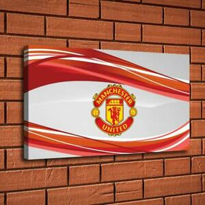 Manchester United Logo Hd Canvas Print Painting Home Decor Room Picture Wall Art Ebay