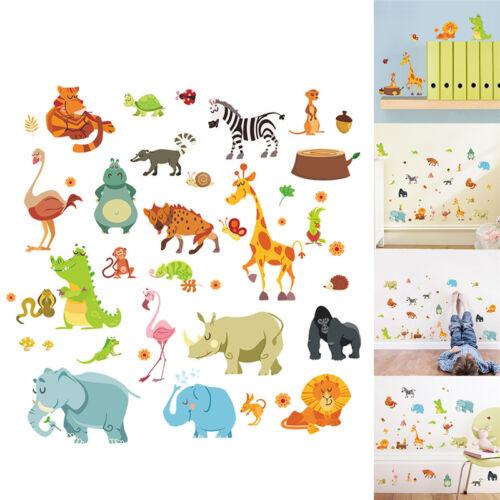 muraux animaux garde d/'enfants singe éléphant cheval stickers muraux I