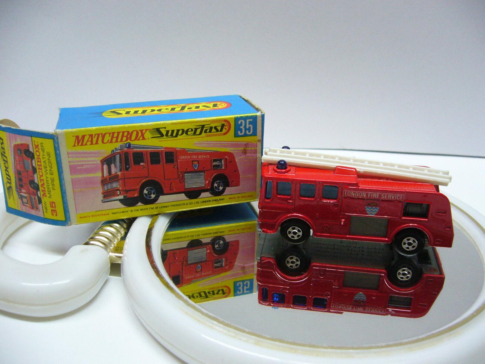 tienda en linea Matchbox súperfast MB 35 Merry Merry Merry Weather Fire Engine-rojo-made en Inglaterra  Envío 100% gratuito