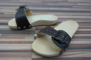 Old-GDR-Foot-Exercises-Mules-Roman-Sandals-Wooden-Shoes-with-Leather-Size-20-32