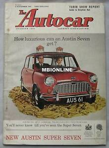 Autocar-magazine-3-11-1961-featuring-Gilbern-GT-road-test-Turin-motor-show