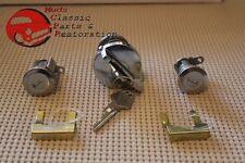 72-85 Chrysler Dodge Plymouth Ignition Door Lock Kit Blank Keys w/o Tilt, Tele
