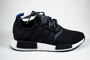 be91bc27f ADIDAS NMD R1 ORIGINALS MEN S RUNNING SHOES BLACK CORE WHITE BLUE ...