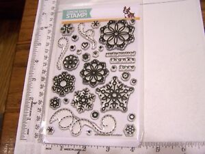CUTE SNOWFLAKES Simon Says Stamp Clear Stamps Sending Flurries of Thanks Love