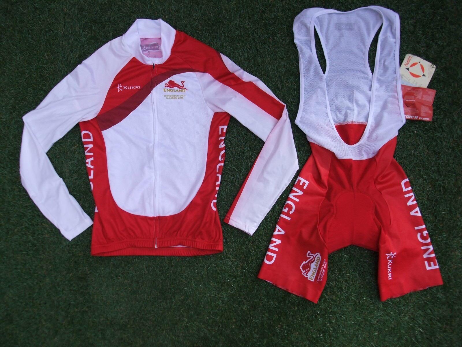 Equipo Inglaterra Commonwealth Games nueva señoras Mono Pantalones Cortos & LS Camiseta Pequeña