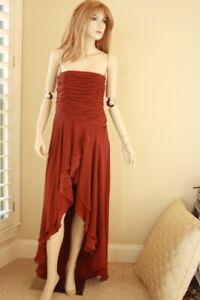 haute hippie hena strapless corset drape dress gown m nwt