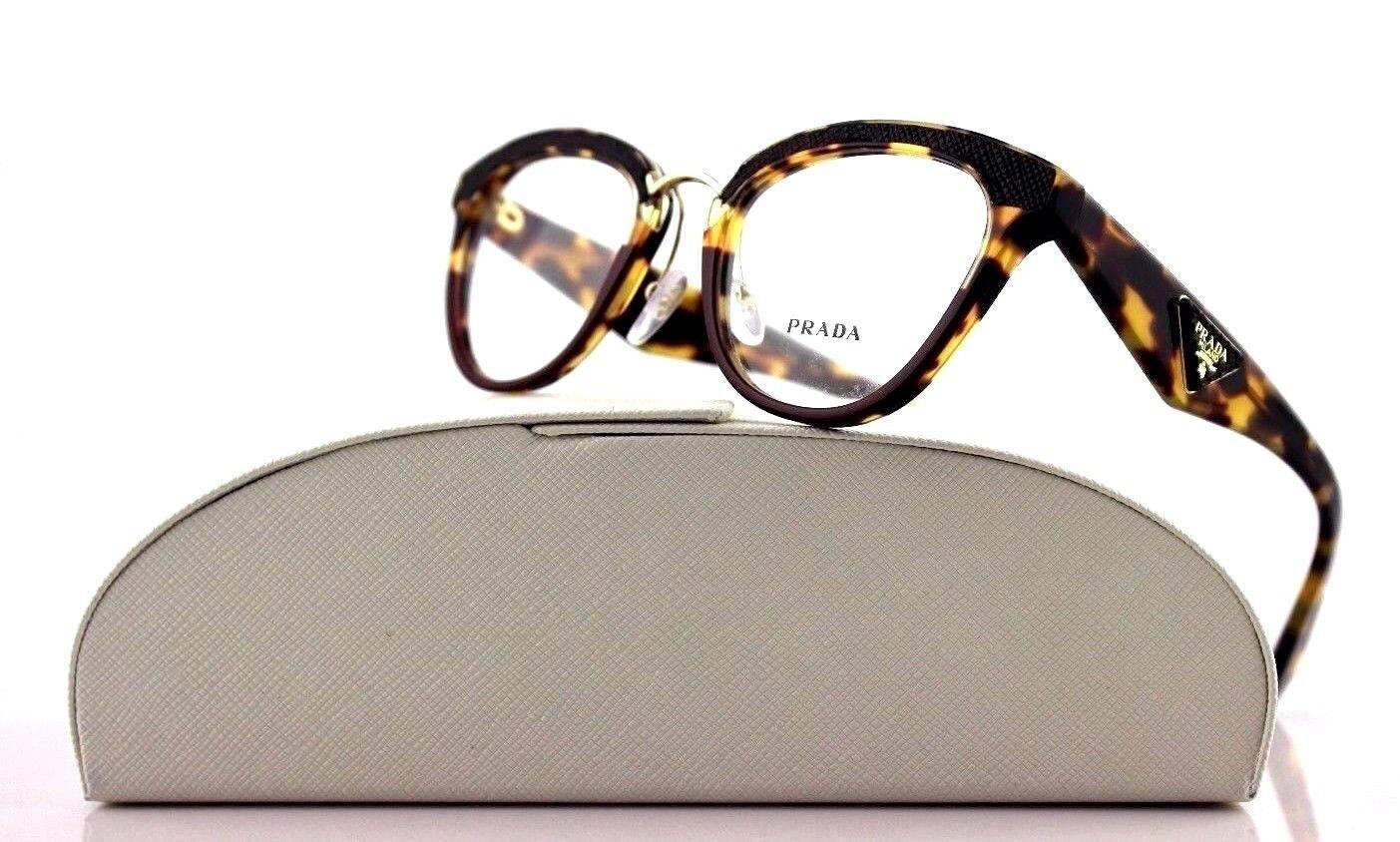 20a7263e75 RARE PRADA Ornate Havana Amaranth Eyeglasses Frame PR 26sv Vhc-1o1 ...