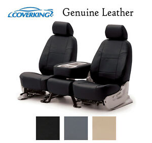 Coverking Custom Fit Seat Cover for Select Hyundai Elantra Models Beige Genuine Leather