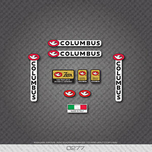 0072 Columbus Tubi Speciali AELLE Bicycle Frame and Fork Stickers Decals