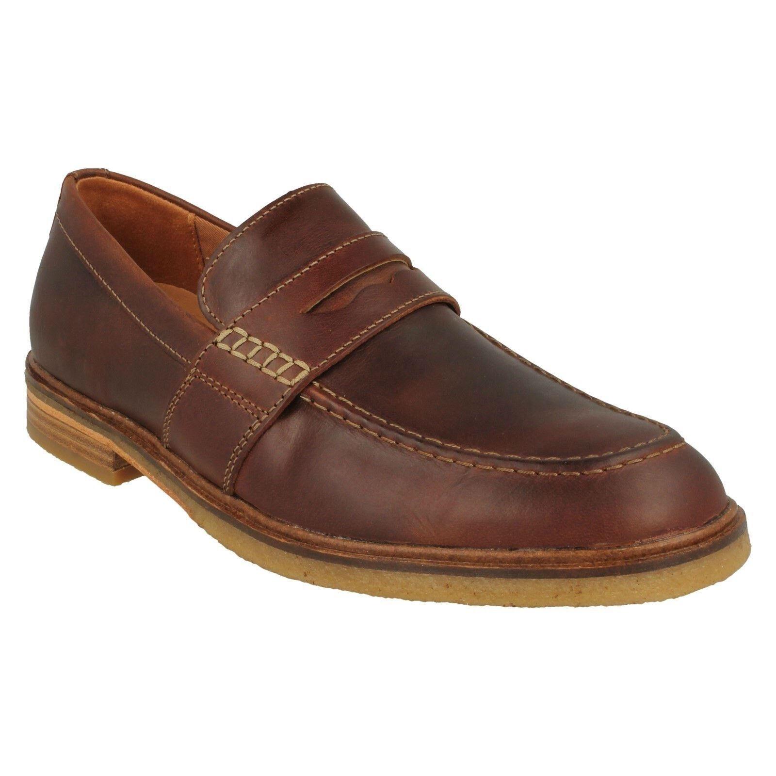 Clarks pour hommes Acajou Cuir à Enfiler Mocassin Décontracté Style chaussures
